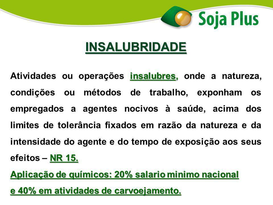 INSALUBRIDADE insalubres, NR 15. Atividades ou operações insalubres, onde a natureza, condições ou métodos de trabalho, exponham os empregados a agent
