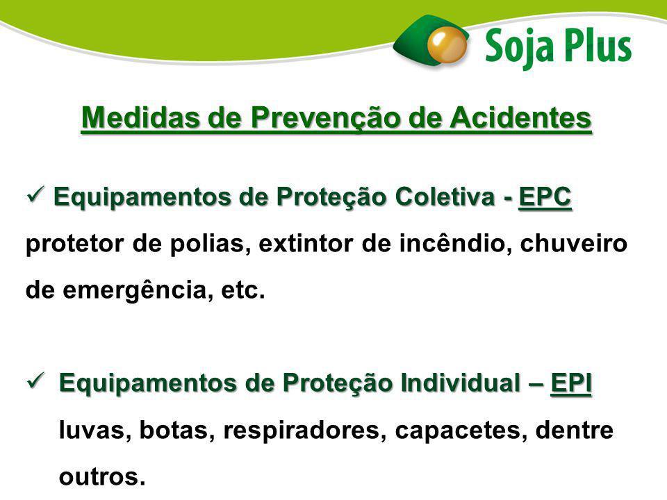 Medidas de Prevenção de Acidentes Equipamentos de Proteção Coletiva - EPC Equipamentos de Proteção Coletiva - EPC protetor de polias, extintor de incê