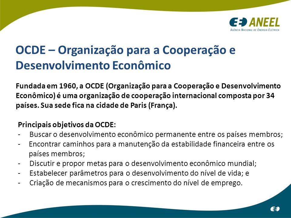 ATENDIMENTO INICIAL OCDE – Organização para a Cooperação e Desenvolvimento Econômico Fundada em 1960, a OCDE (Organização para a Cooperação e Desenvol
