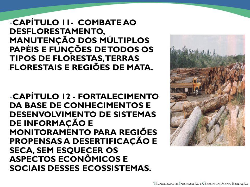 CAPÍTULO 11- COMBATE AO DESFLORESTAMENTO, MANUTENÇÃO DOS MÚLTIPLOS PAPÉIS E FUNÇÕES DE TODOS OS TIPOS DE FLORESTAS, TERRAS FLORESTAIS E REGIÕES DE MATA.
