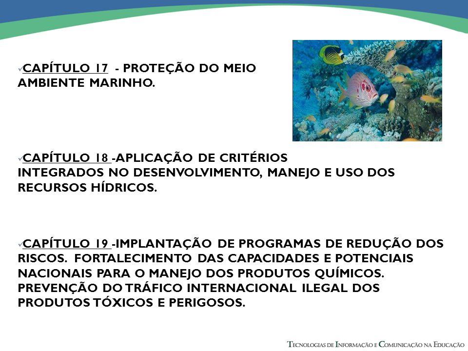 CAPÍTULO 17 - PROTEÇÃO DO MEIO AMBIENTE MARINHO.