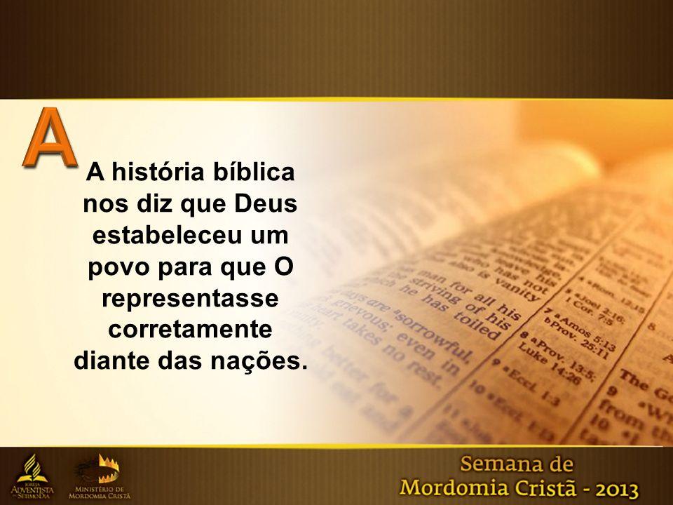 A história bíblica nos diz que Deus estabeleceu um povo para que O representasse corretamente diante das nações.