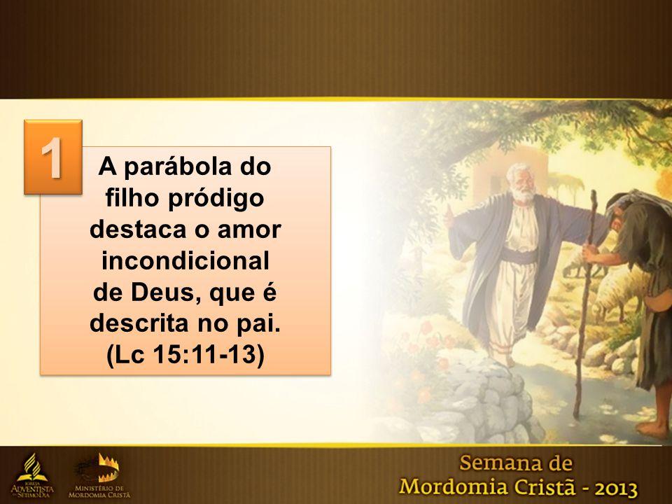 A parábola do filho pródigo destaca o amor incondicional de Deus, que é descrita no pai. (Lc 15:11-13) A parábola do filho pródigo destaca o amor inco