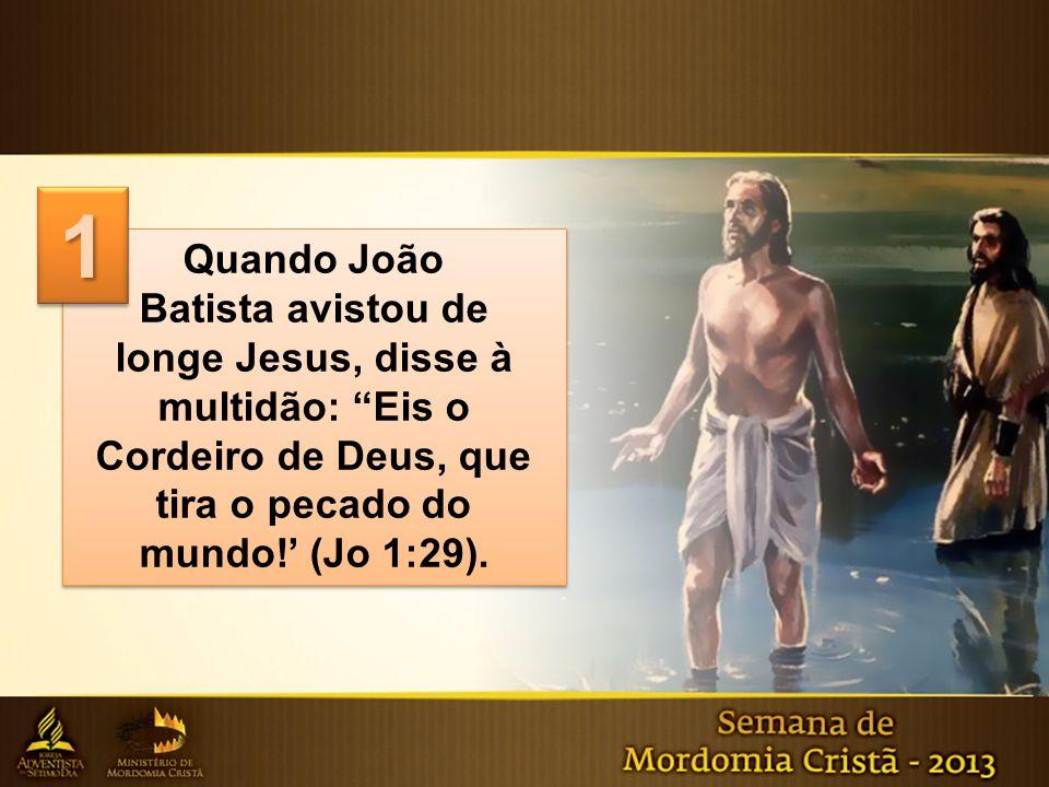 Quando João Batista avistou de longe Jesus, disse à multidão: Eis o Cordeiro de Deus, que tira o pecado do mundo!' (Jo 1:29).