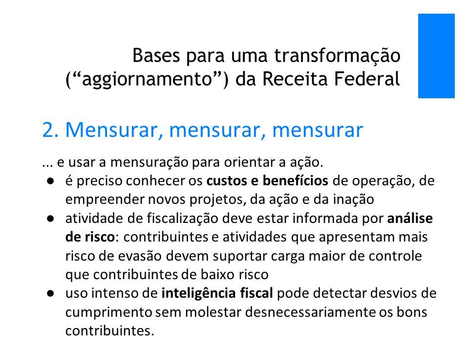 Bases para uma transformação ( aggiornamento ) da Receita Federal 2.