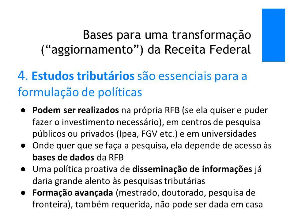Bases para uma transformação ( aggiornamento ) da Receita Federal 4.