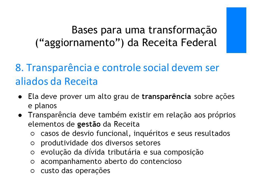 Bases para uma transformação ( aggiornamento ) da Receita Federal 8.