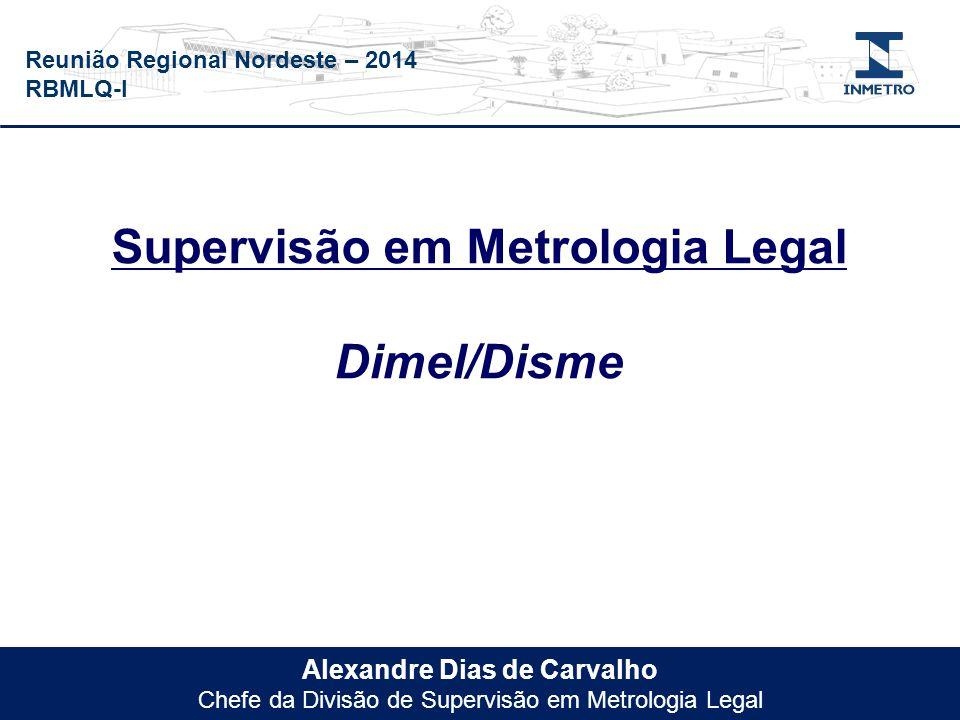 Reunião Regional Nordeste – 2014 RBMLQ-I Alexandre Dias de Carvalho Chefe da Divisão de Supervisão em Metrologia Legal Supervisão em Metrologia Legal