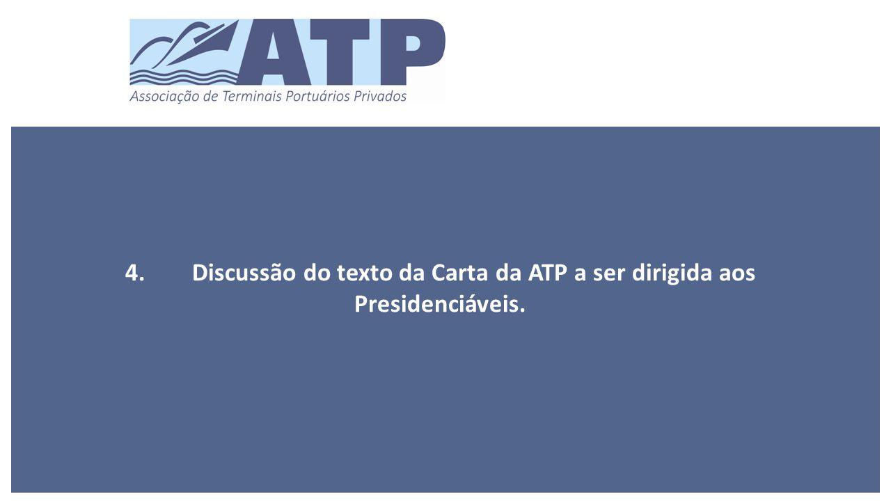 4.Discussão do texto da Carta da ATP a ser dirigida aos Presidenciáveis.