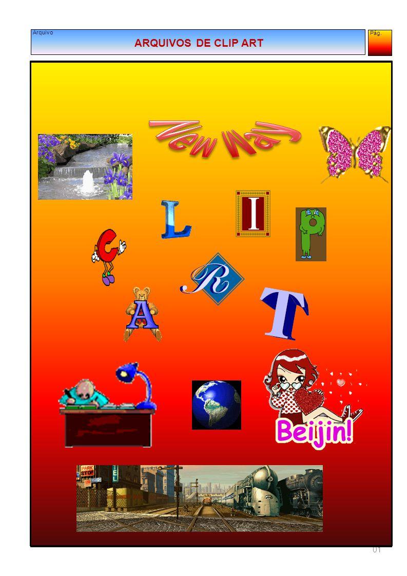 Pág. 12 Arquivo LISTA DOS ARQUIVOS DE CLIP ART Programar