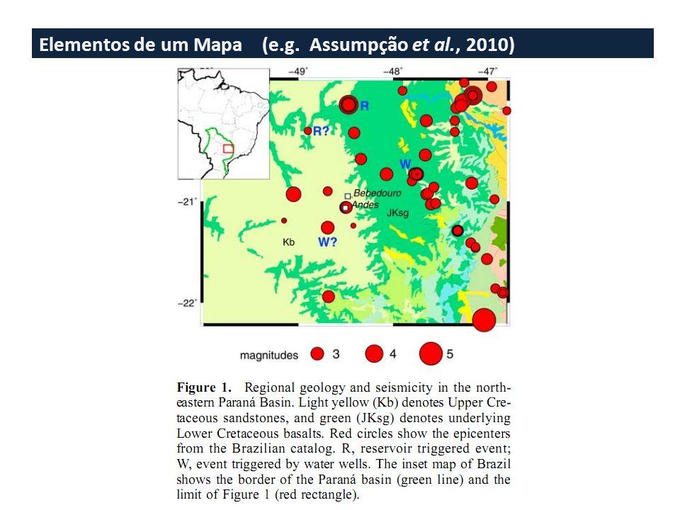 Elementos de um Mapa (e.g. Assumpção et al., 2010)