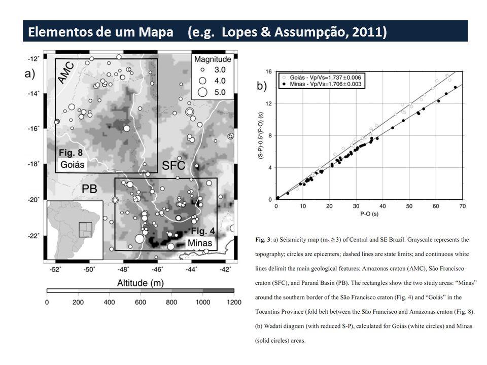 Elementos de um Mapa (e.g. Lopes & Assumpção, 2011)