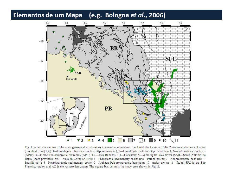 Elementos de um Mapa (e.g. Lopes & Nunes, 2010)