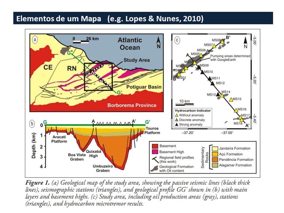Elementos de um Mapa (e.g. Lopes et al., 2010)