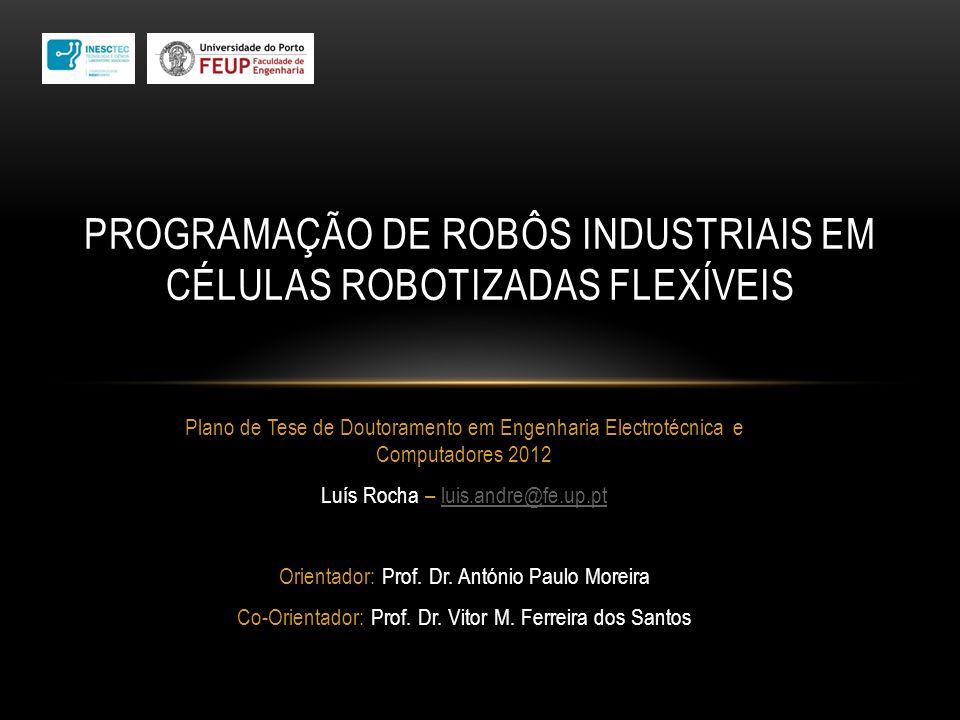 Plano de Tese de Doutoramento em Engenharia Electrotécnica e Computadores 2012 Luís Rocha – luis.andre@fe.up.ptluis.andre@fe.up.pt Orientador: Prof. D