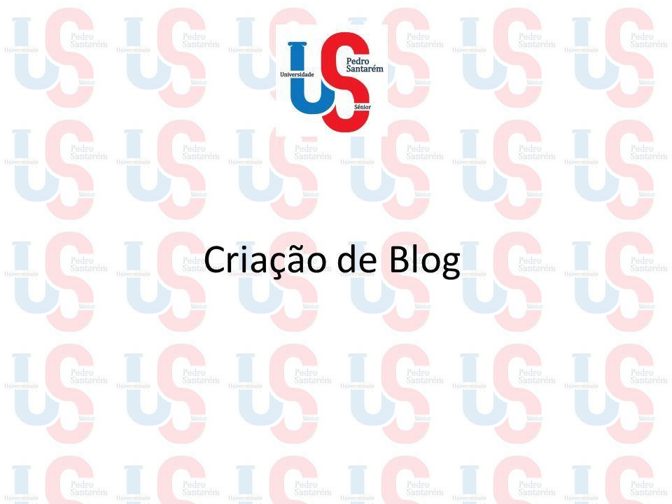 Criação de Blog