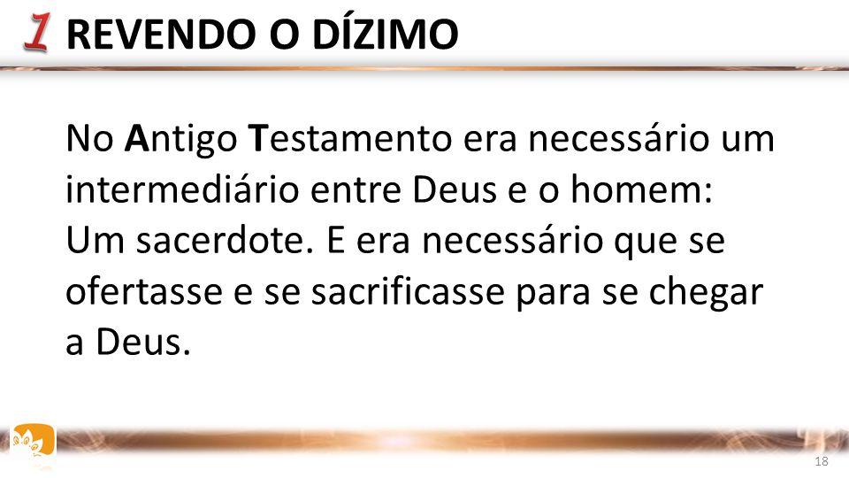 No Antigo Testamento era necessário um intermediário entre Deus e o homem: Um sacerdote.
