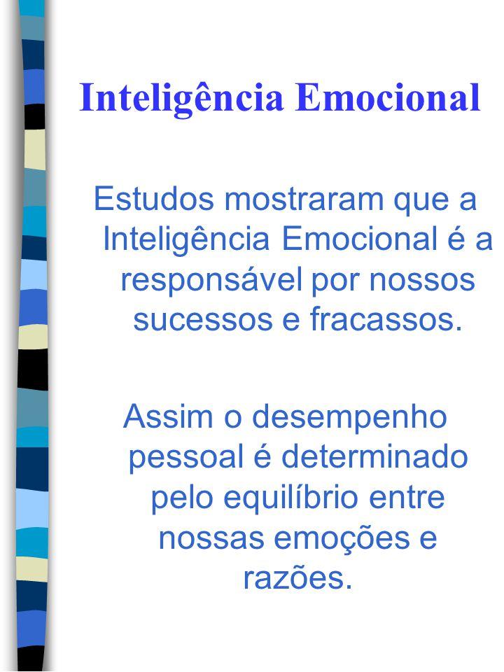 Inteligência Emocional O QI não é suficiente para explicar os diferentes caminhos trilhados pelas pessoas. Os mais brilhantes podem deixar-se levar po