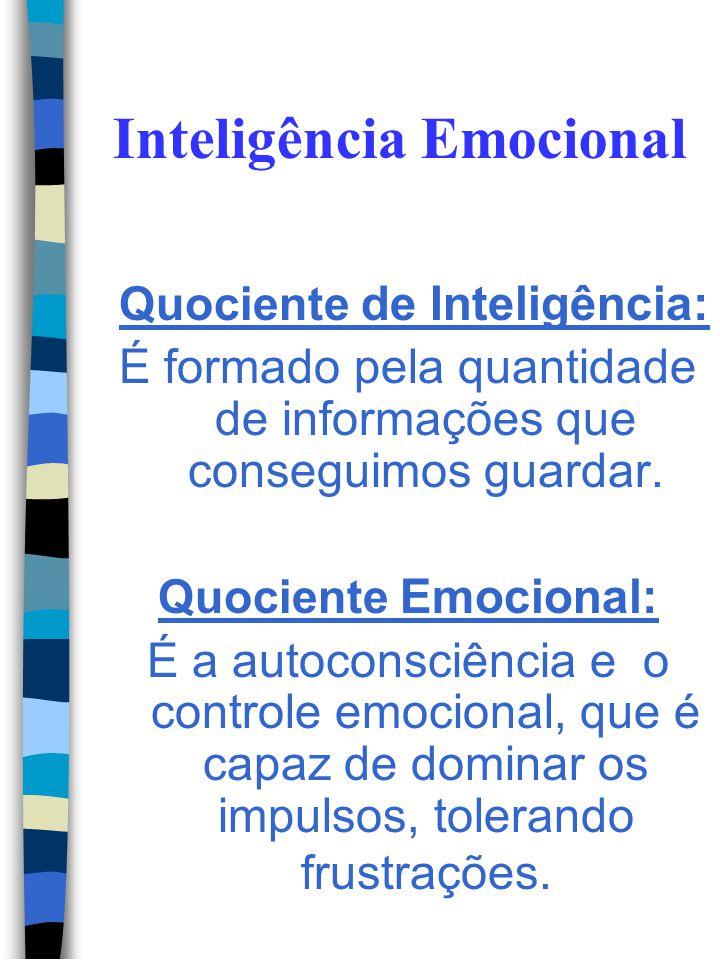 Inteligência Emocional Estudos mostraram que a Inteligência Emocional é a responsável por nossos sucessos e fracassos. Assim o desempenho pessoal é de
