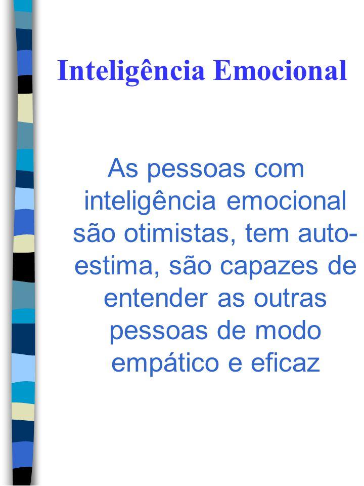 Inteligência Emocional Componentes do sistema emocional: - Os pensamentos; - As alterações fisiológicas; - E o comportamento. Ex. Subordinado chegar a