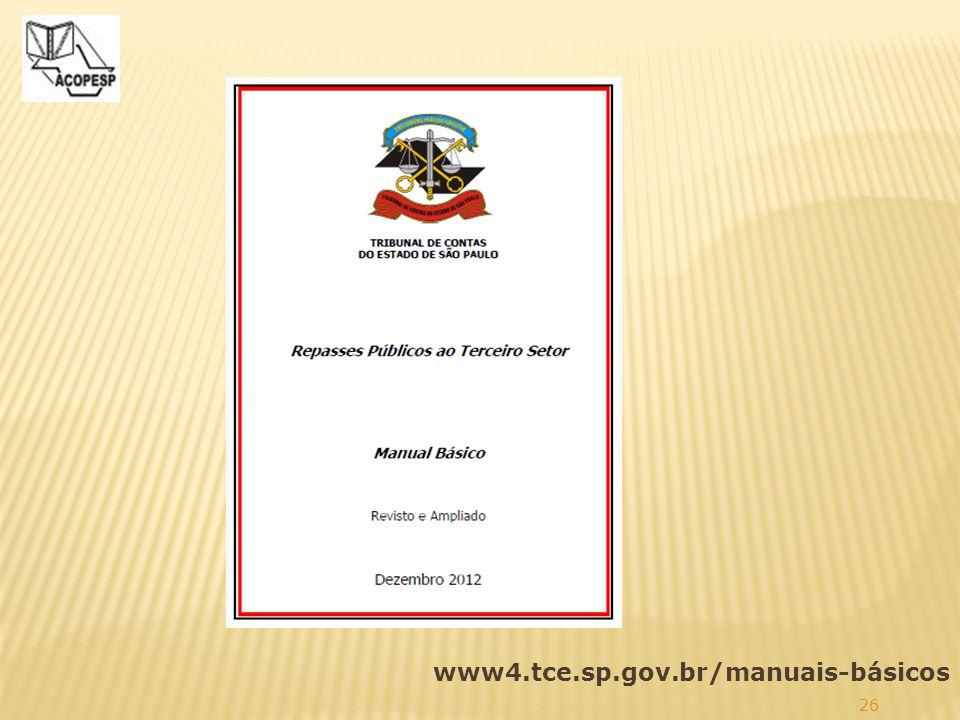 26 www4.tce.sp.gov.br/manuais-básicos