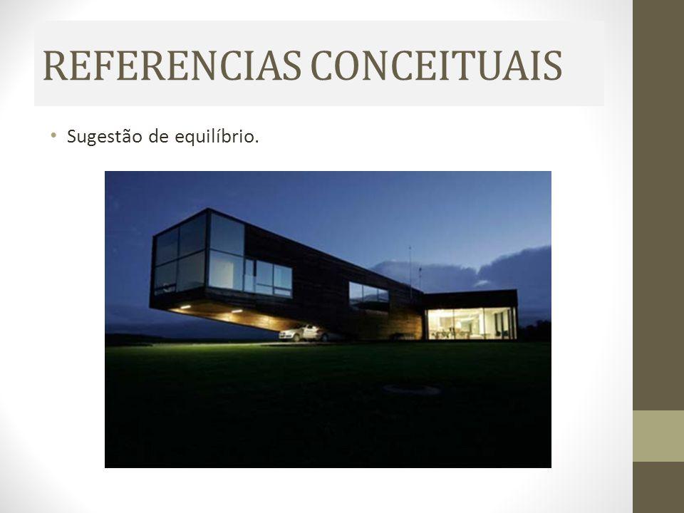 REFERENCIAS CONCEITUAIS Sugestão de equilíbrio.