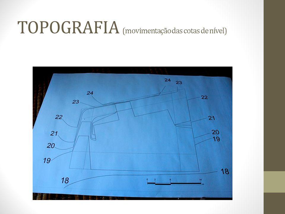 TOPOGRAFIA (movimentação das cotas de nível)