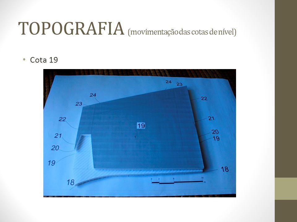 TOPOGRAFIA (movimentação das cotas de nível) Cota 19