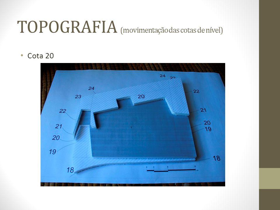 TOPOGRAFIA (movimentação das cotas de nível) Cota 20
