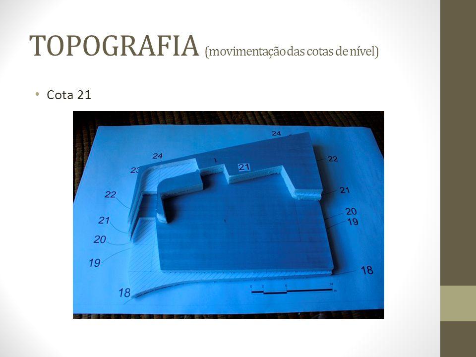 TOPOGRAFIA (movimentação das cotas de nível) Cota 21