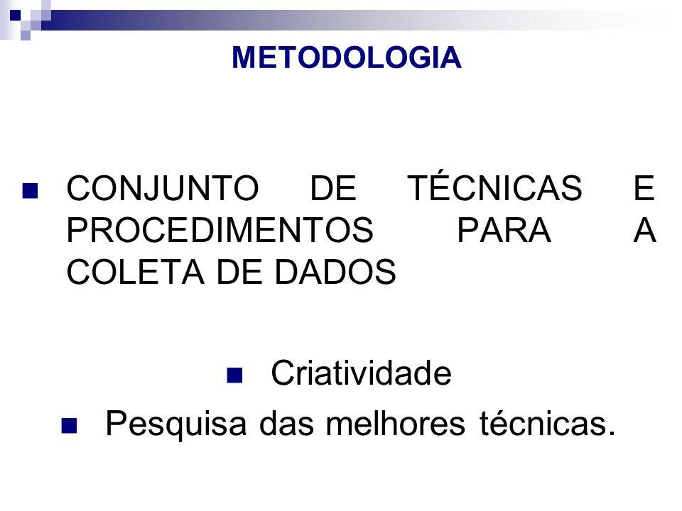 METODOLOGIA Detalhar, cada tarefa escrita no objetivos específicos.