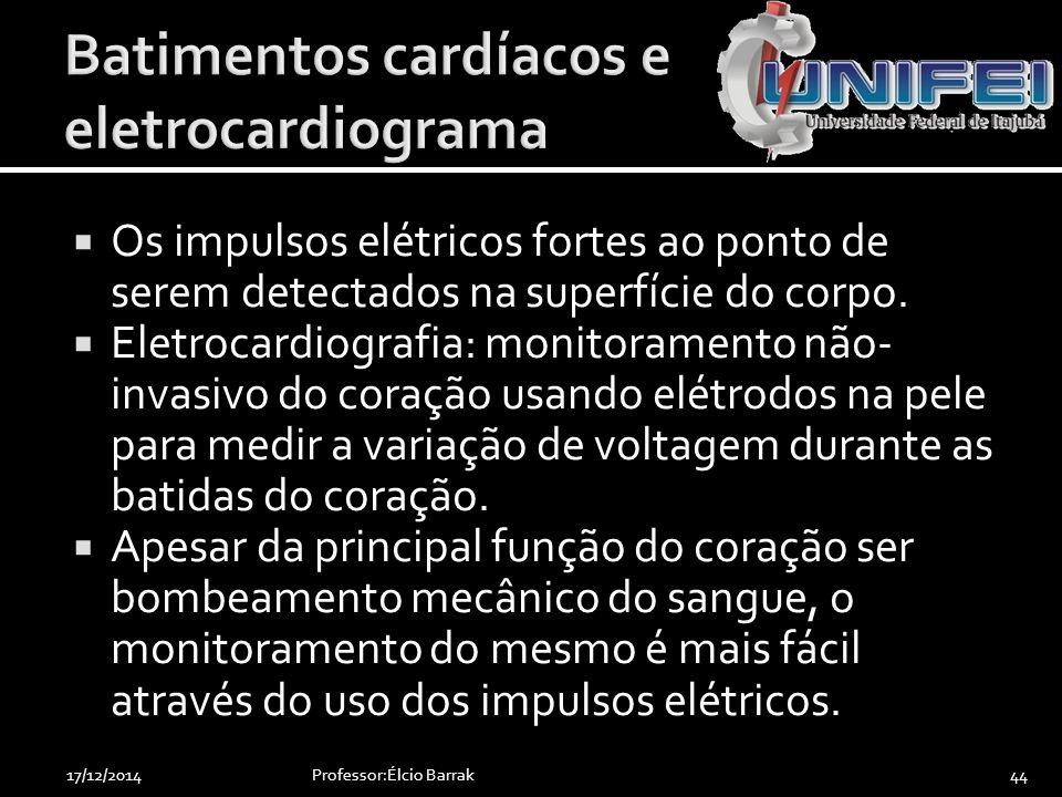  Os impulsos elétricos fortes ao ponto de serem detectados na superfície do corpo.  Eletrocardiografia: monitoramento não- invasivo do coração usand