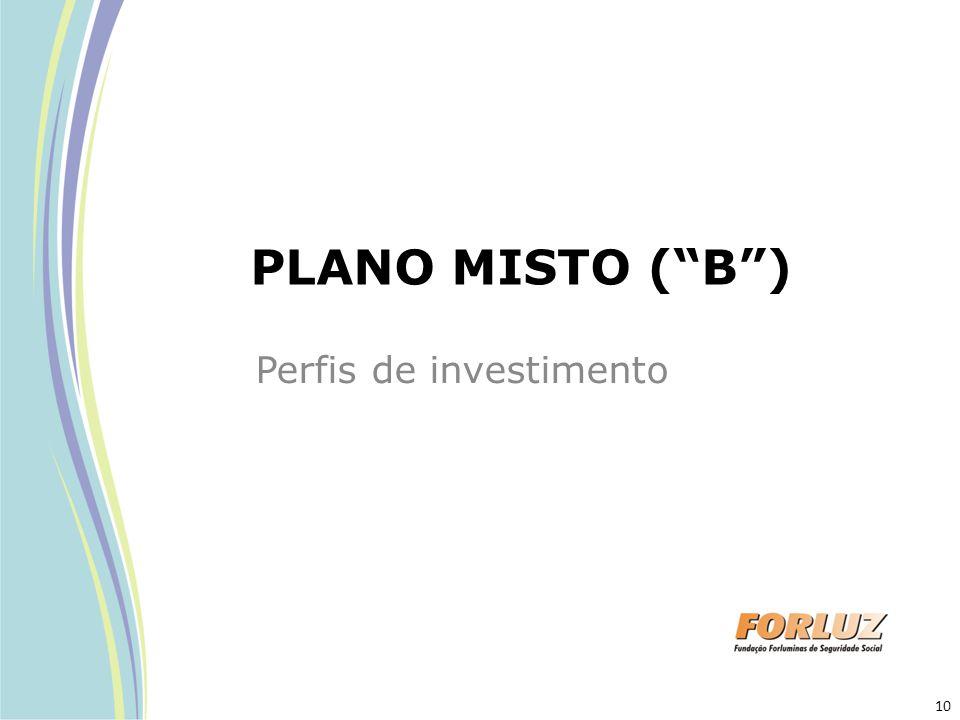"PLANO MISTO (""B"") Perfis de investimento 10"