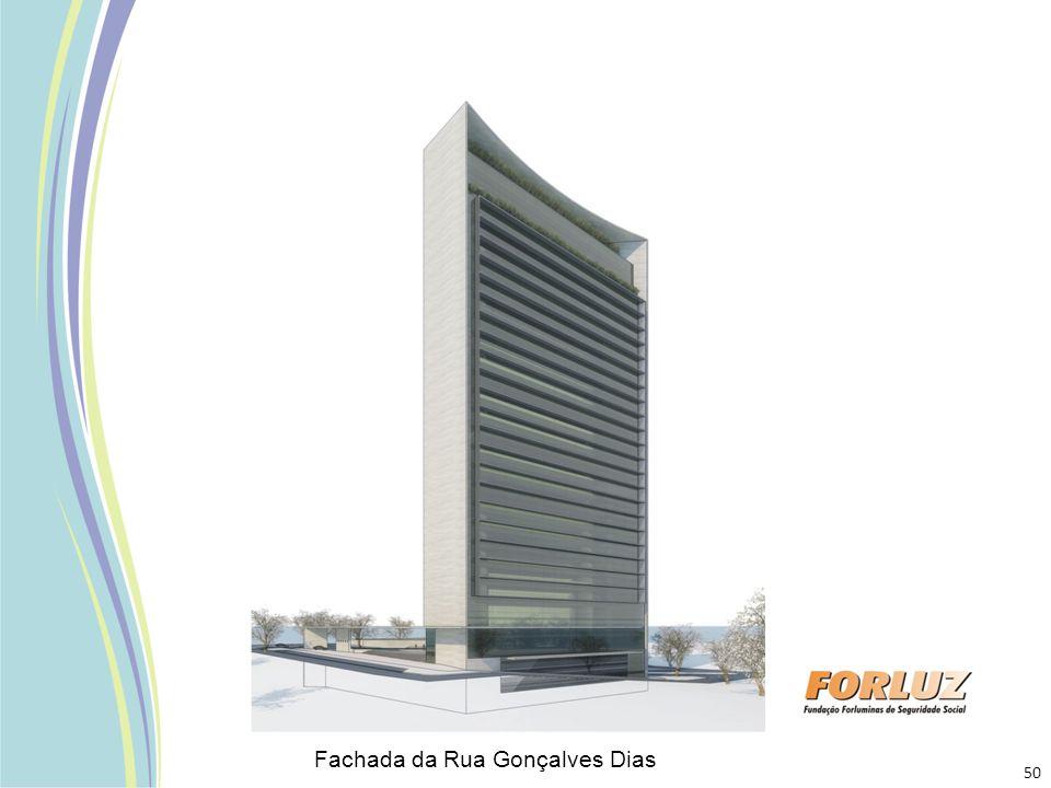 Fachada da Rua Gonçalves Dias 50