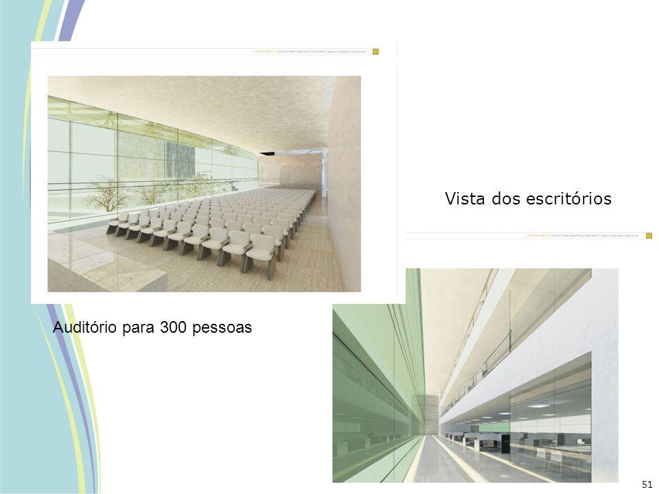 Auditório para 300 pessoas Vista dos escritórios 51