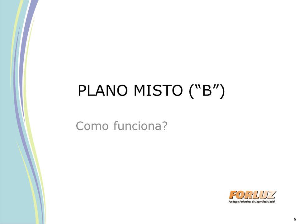 """PLANO MISTO (""""B"""") Como funciona? 6"""