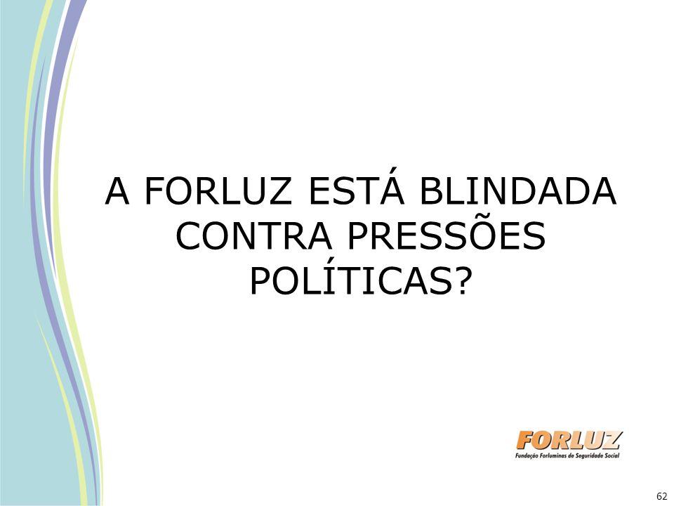 A FORLUZ ESTÁ BLINDADA CONTRA PRESSÕES POLÍTICAS? 62