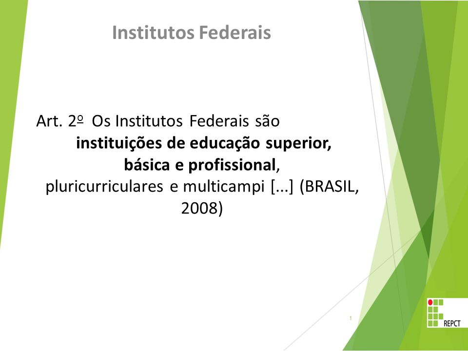 Institutos Federais Art.