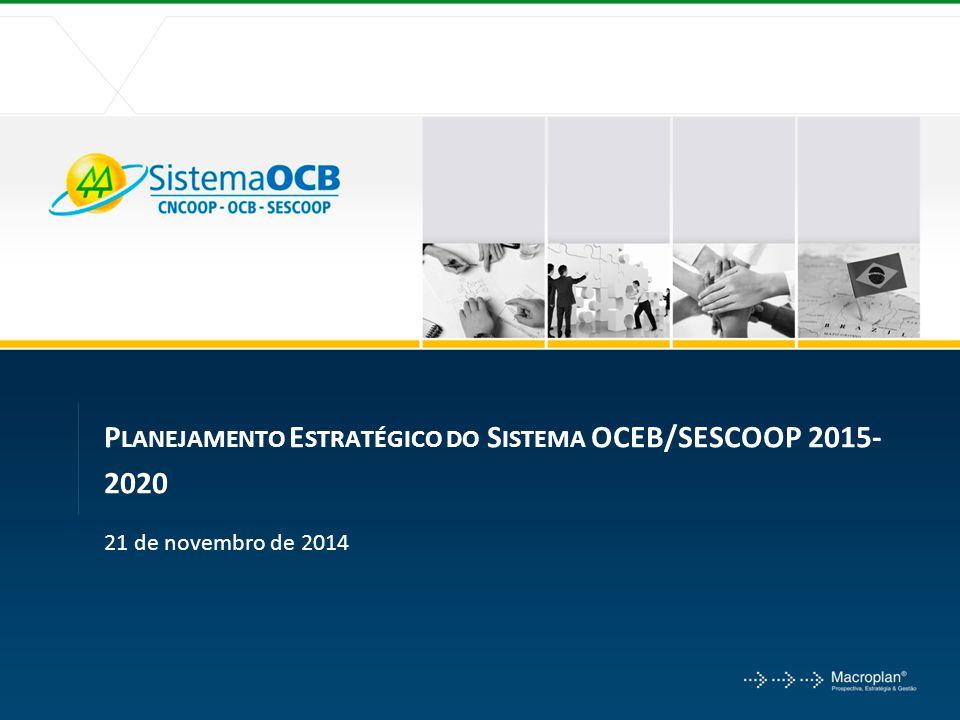 P LANEJAMENTO E STRATÉGICO DO S ISTEMA OCEB/SESCOOP 2015- 2020 21 de novembro de 2014