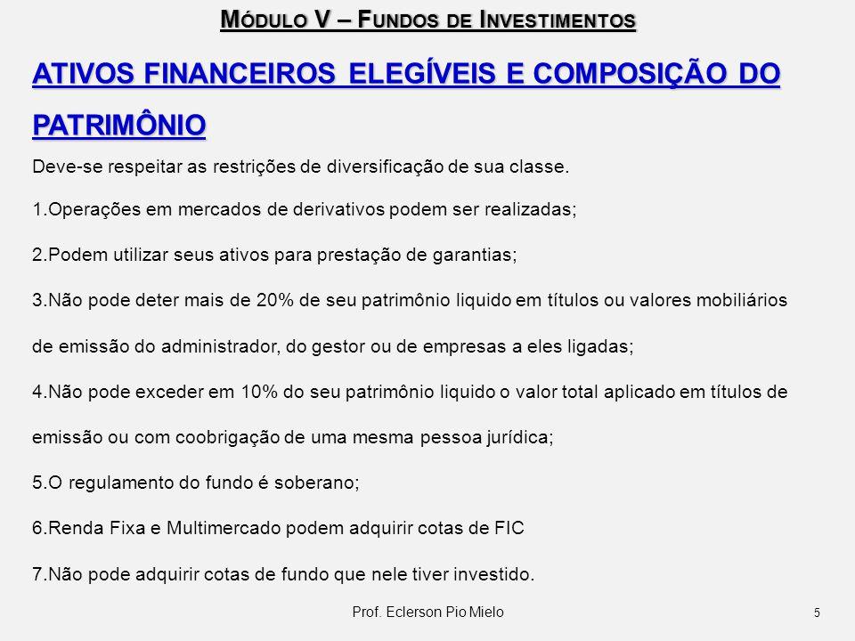M ÓDULO V – F UNDOS DE I NVESTIMENTOS PRAZO DE LIQUIDAÇÃO FINANCEIRA CONCEITO  Efetivo débito ou crédito dos recursos em conta do investidor.