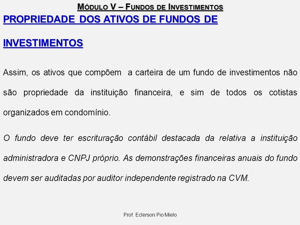 M ÓDULO V – F UNDOS DE I NVESTIMENTOS TRIBUTAÇÃO Várias espécies de tributos incidem sobre investimentos.