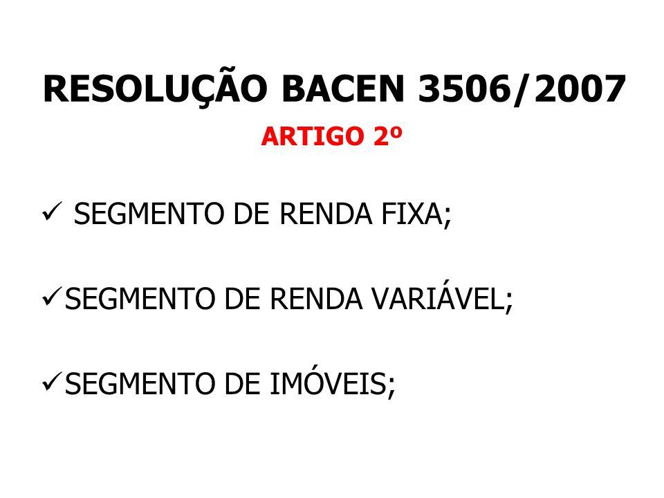 RESOLUÇÃO Nº 3506/07 – CERTIFICAÇÃO DOS GESTOR VISÃO DO GESTOR QUAL A IMPORTÂNCIA DO CADASTRO.