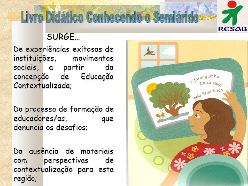SURGE… De experiências exitosas de instituições, movimentos sociais, a partir da concepção de Educação Contextualizada; Do processo de formação de edu