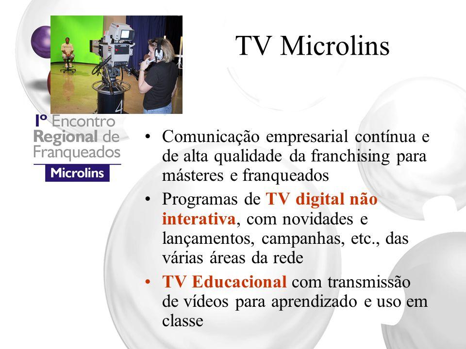 TV Microlins Comunicação empresarial contínua e de alta qualidade da franchising para másteres e franqueados Programas de TV digital não interativa, c