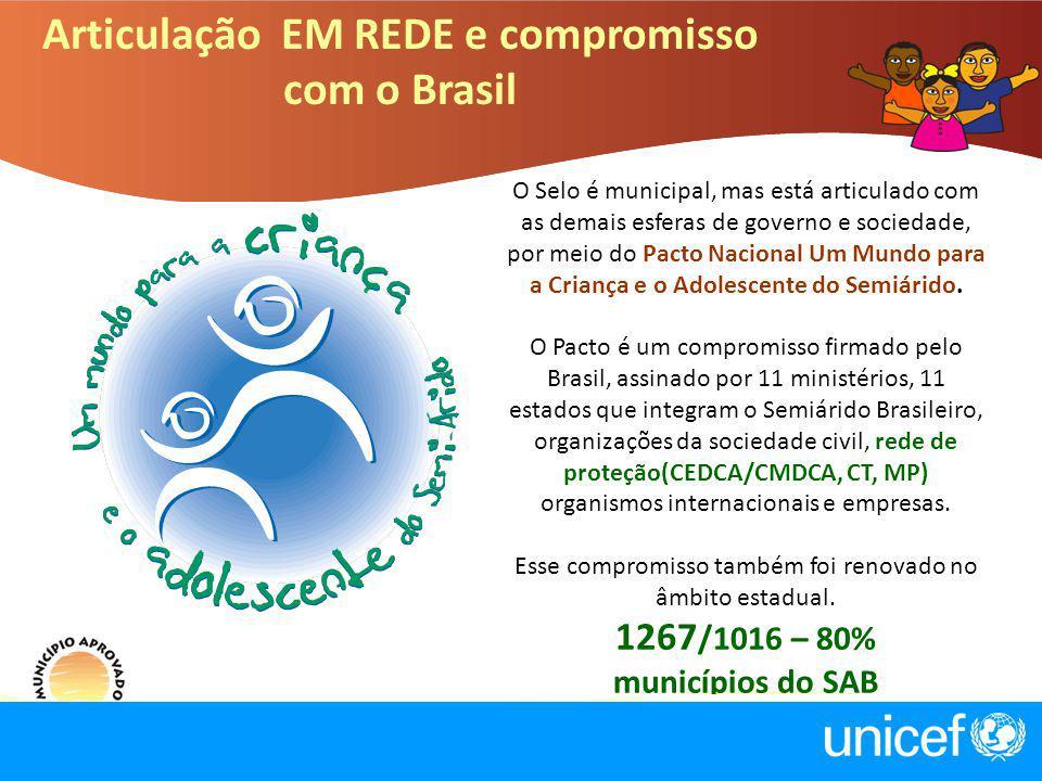 O Selo é municipal, mas está articulado com as demais esferas de governo e sociedade, por meio do Pacto Nacional Um Mundo para a Criança e o Adolescen