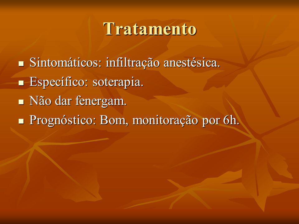 Tratamento Sintomáticos: infiltração anestésica.Sintomáticos: infiltração anestésica.