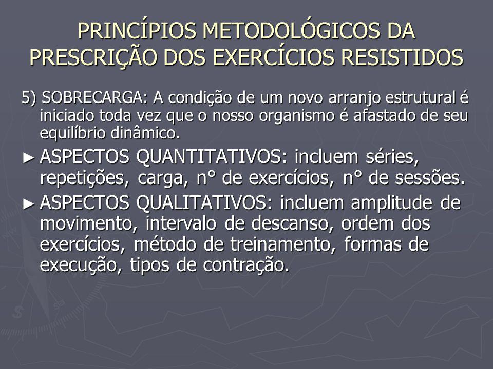5) SOBRECARGA: A condição de um novo arranjo estrutural é iniciado toda vez que o nosso organismo é afastado de seu equilíbrio dinâmico. ► ASPECTOS QU
