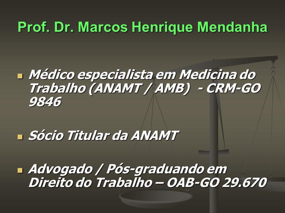 Médico especialista em Medicina do Trabalho (ANAMT / AMB) - CRM-GO 9846 Médico especialista em Medicina do Trabalho (ANAMT / AMB) - CRM-GO 9846 Sócio Titular da ANAMT Sócio Titular da ANAMT Advogado / Pós-graduando em Direito do Trabalho – OAB-GO 29.670 Advogado / Pós-graduando em Direito do Trabalho – OAB-GO 29.670