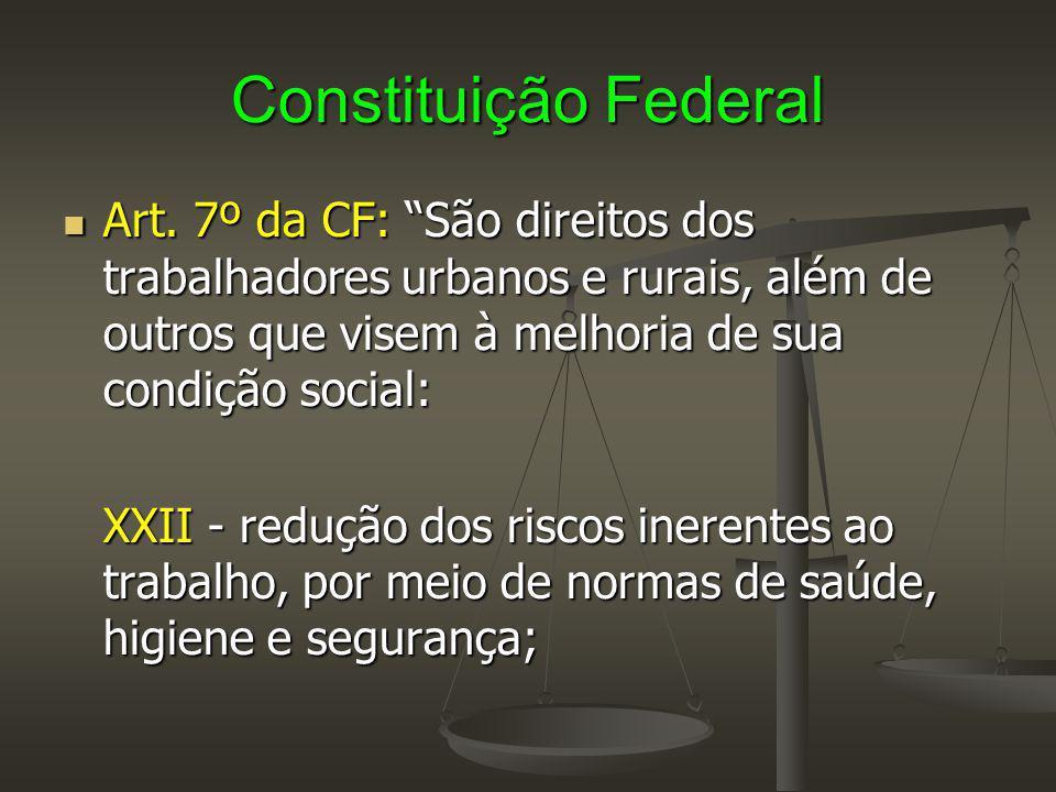 """Constituição Federal Art. 7º da CF: """"São direitos dos trabalhadores urbanos e rurais, além de outros que visem à melhoria de sua condição social: Art."""