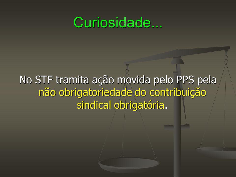 Curiosidade... No STF tramita ação movida pelo PPS pela não obrigatoriedade do contribuição sindical obrigatória.